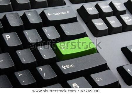 Zöld belépés kulcs billentyűzet szürke Stock fotó © wavebreak_media