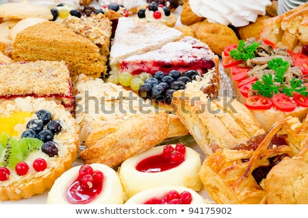 Tartlets with various fillings Stock photo © amok