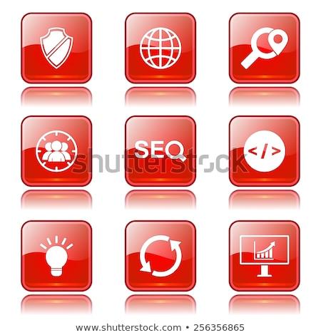 seo internet sign square vector red icon design set 2 stock photo © rizwanali3d