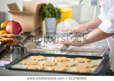 Chef bolinhos cozinha Foto stock © JamiRae