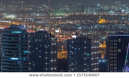Lang wolkenkrabbers Dubai water business hemel Stockfoto © Elnur