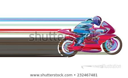 abstract · tekening · motor · weg · ontwerp · glas - stockfoto © shawlinmohd