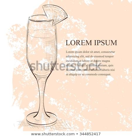 şampanya · yalıtılmış · beyaz · cam · içmek - stok fotoğraf © netkov1