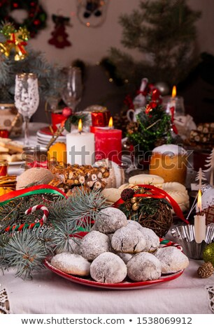 Chocolate balls and shortbread cookies Stock photo © Digifoodstock