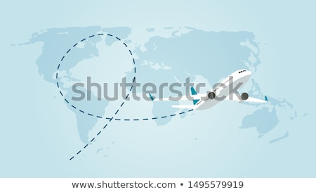 Flying airplane Stock photo © svetography