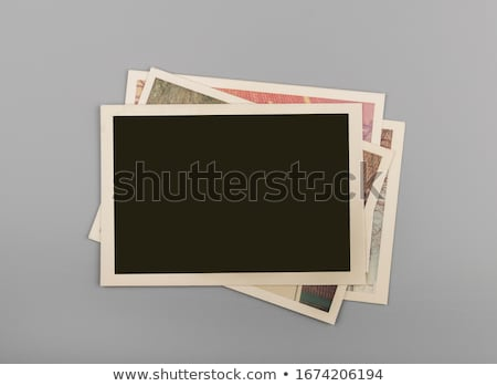 Régi fotó fából készült fal textúra keret fekete Stock fotó © Avlntn