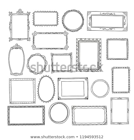 hand drawn frames lines and circle collection stock photo © m_pavlov