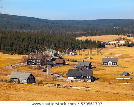 山 チェコ共和国 建物 ヨーロッパ 草原 コテージ ストックフォト © phbcz