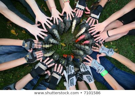 group circle roller skates stock photo © paha_l