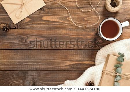 composite image of wooden table stock photo © wavebreak_media