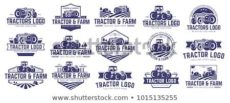 vektor · farm · traktor · teherautó · kék · sajtó - stock fotó © huseyinbas