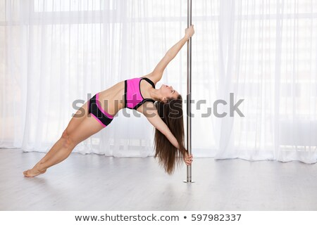 красивой · молодые · полюс · танцовщицы · осуществлять · йога - Сток-фото © kasjato