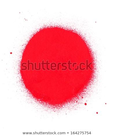 Graffiti círculo aerosol rojo blanco Foto stock © Melvin07