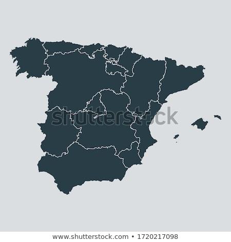 スペイン 国 地図 市 画像 土地 ストックフォト © alex_grichenko