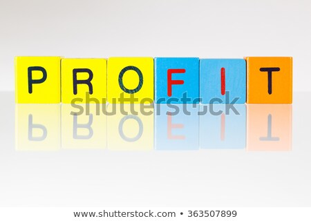 invest   an inscription from childrens blocks stock photo © capturelight
