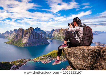 A pro photograph is shooting in nature Stock photo © zurijeta