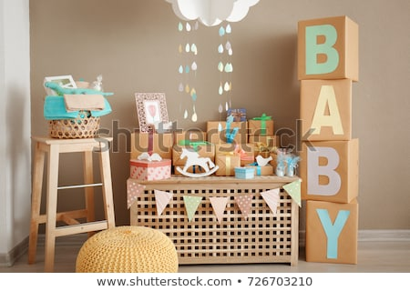 Presents on baby shower party Stock photo © Kzenon