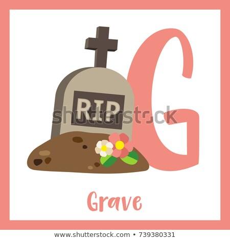 Alphabet grave illustration fond art éducation Photo stock © bluering