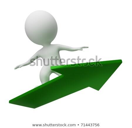 3D · mały · ludzi · arrow · wspinaczki · w · górę - zdjęcia stock © anatolym