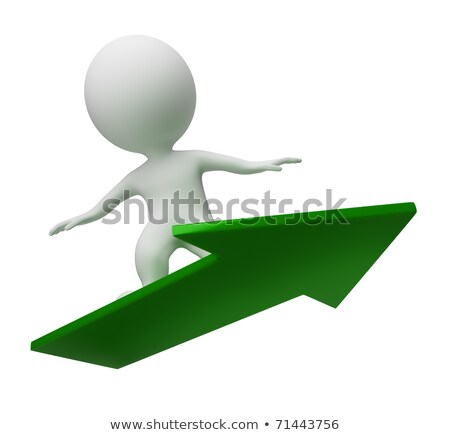 3d small people - flight on a arrow Stock photo © AnatolyM