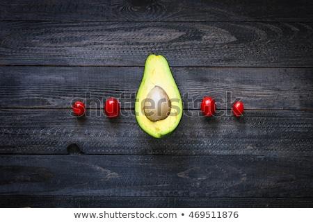 gıda · yarım · avokado · ahşap · eski · dramatik - stok fotoğraf © DavidArts
