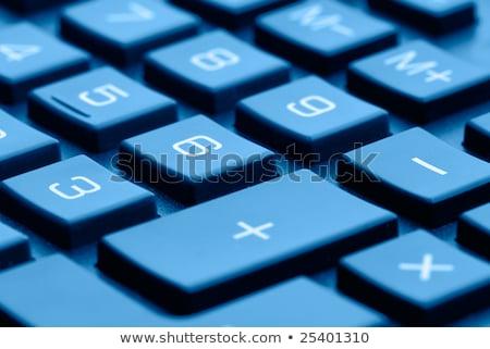 blue calculator closeup  Stock photo © OleksandrO