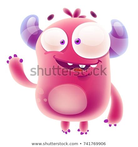 Cartoon monstruo carácter ilustración sonrisa Foto stock © vector1st