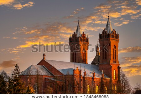 Lang landelijk land kerk platteland Stockfoto © hraska