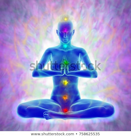 Human energy body, aura, chakra, energy Stock photo © JackyBrown