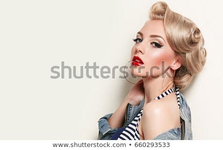 Gold blond woman. stock photo © lubavnel