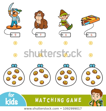 Matching game with numbers Stock photo © bluering