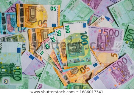 stack of bills with 100, 10 and 5 euros Stock photo © RuslanOmega