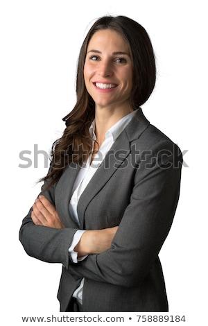 Dumny kobieta interesu biały młodych formalny portret Zdjęcia stock © Giulio_Fornasar
