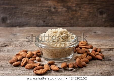 Amêndoa farinha nozes comida cozinha energia Foto stock © yelenayemchuk
