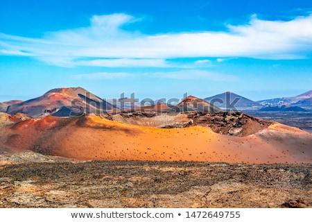 volcanic landscape in Lanzarote, Timanfaya national park  Stock photo © meinzahn