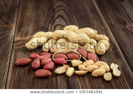 Gedroogd pinda donkere foto gezondheid achtergrond Stockfoto © deandrobot