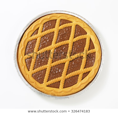 lattice topped chocolate tart stock photo © digifoodstock