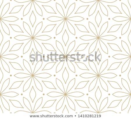 Modello di fiore tessuto nero pattern poster Foto d'archivio © SArts
