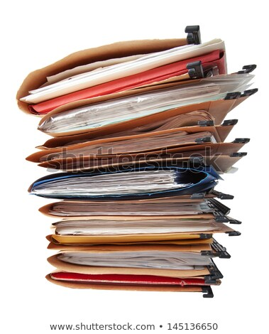Folder with files isolated. Working documents for card index. Stock photo © MaryValery