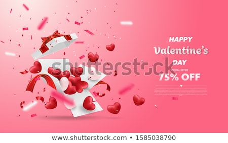 Heart balloon isolated on white background. Vector illustration. Stock photo © Arkadivna