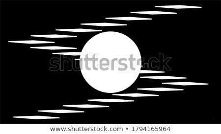 Művészet dekoráció lépcsőfeljáró hold tapéta háttér Stock fotó © igor_shmel
