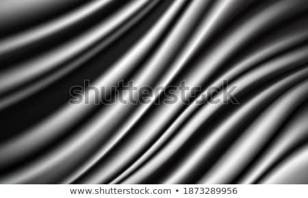 波浪狀的 絲綢 抽象 向量 白 銀 商業照片 © pikepicture