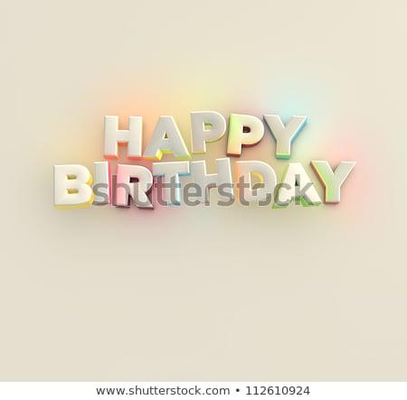 Happy birthday card  jumps  Stock photo © Olena
