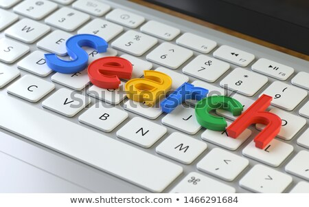 Otimização 3D alumínio teclado vermelho Foto stock © tashatuvango