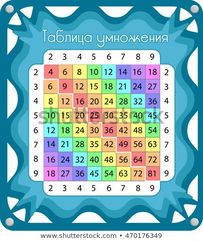 in Russian Multiplication table 2 Stock photo © Olena