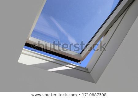 padrão · azul · telhado · azulejos · fundo · urbano - foto stock © 5xinc