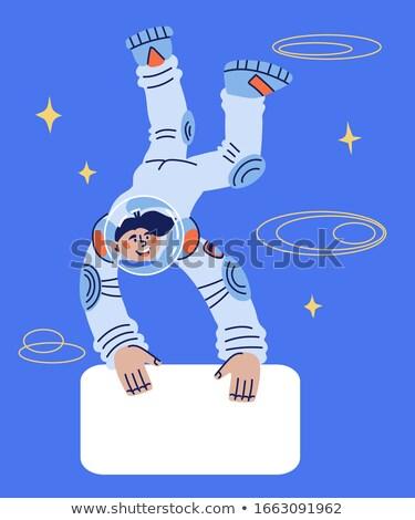 ретро астронавт планете Земля Поп-арт человека Сток-фото © studiostoks