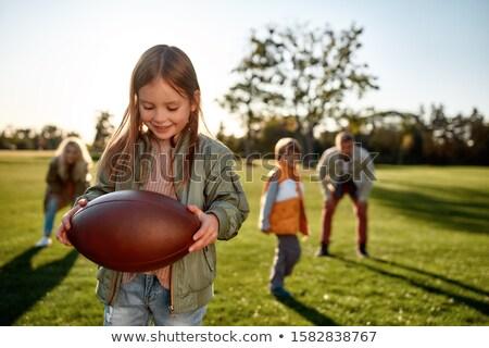 Játszik rögbi amerikai futball űrlap labda Stock fotó © Olena