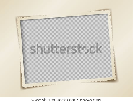Vector ripped golden paper template Stock photo © orson