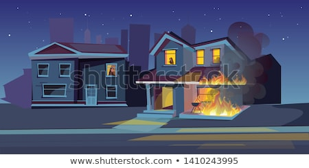 property insurance private house is on fire stock photo © orensila